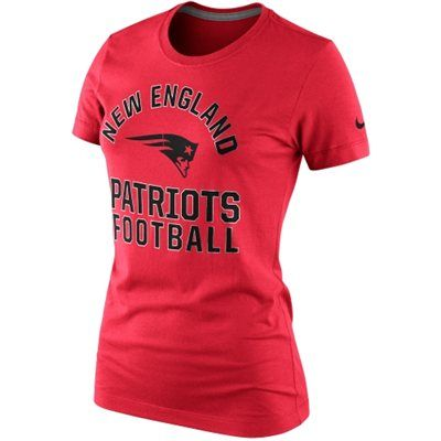 Nike New England Patriots Ladies Hometown Tri-Blend T-Shirt - Red