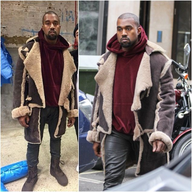 Kanye West Wears Vintage Vivienne Westwood Buffalo Coat
