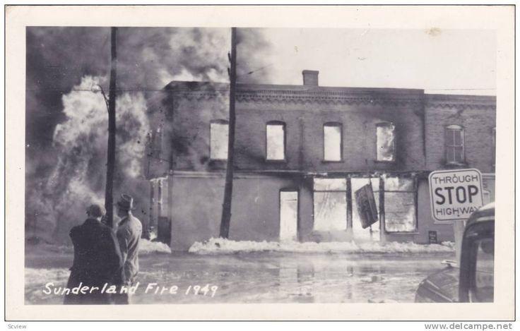 RP: Sunderland Fire , 1949 , Ontario , Canada - Delcampe.com