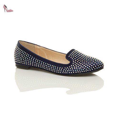 Spot On femmes bord fourrure chaussures ballerine