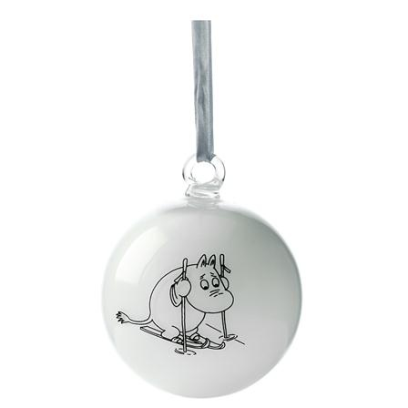 ACHICA | Moomin Dining Moomin Christmas Ball, White
