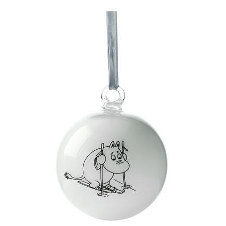 ACHICA | Moomin Dining Moomin Christmas Ball, White
