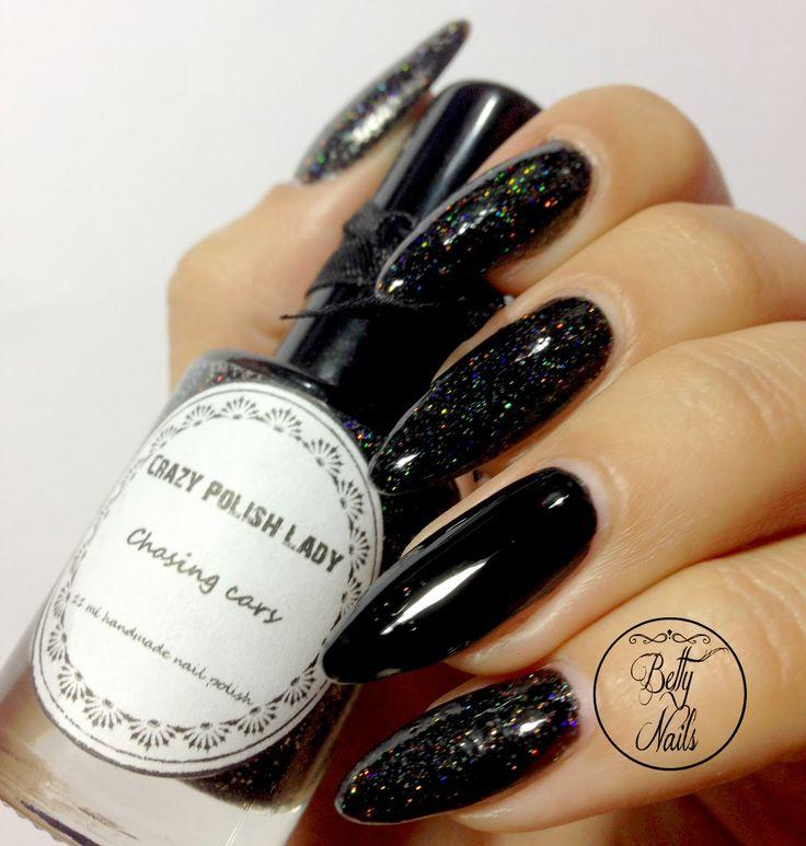 Betty Nails: Halloween Nails #2 - Spider Web Nails - Crazy Polish Lady