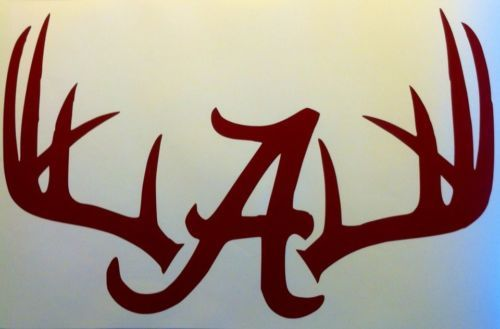 Decal Truck Back Window Alabama 11x17in College Red Hunting