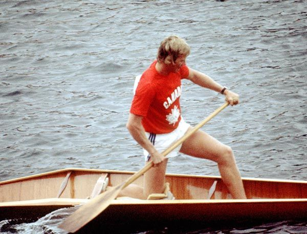 Canada's Jim Wood  competes in a canoeing event at the 1976 Olympic games in Montreal. (CP PHOTO/ COA/ Tim O'lett)
