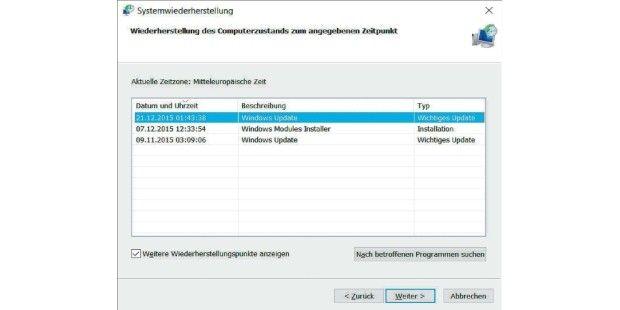 Bei Problemen reparieren Sie Windows 10 mit dem letzten Wiederherstellungspunkt. Die letzten Änderungen und Installationen werden damit rückgängig gemacht.