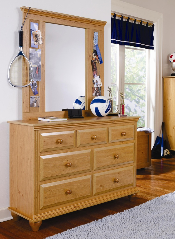 Best Madison 7 Drawer Dresser With Mirror Combination By Lang 640 x 480