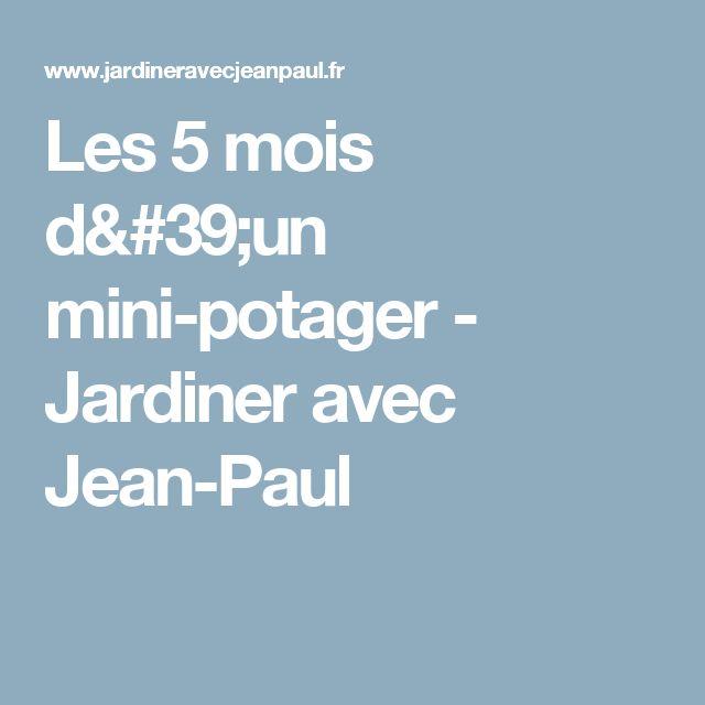 Les 5 mois d'un mini-potager - Jardiner avec Jean-Paul