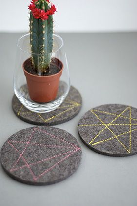 DIY: Felted party coasters by Stylingsinja