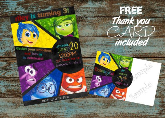 Best Inside Out Bday Ideas Images On Pinterest Birthday - Birthday invitations inside out