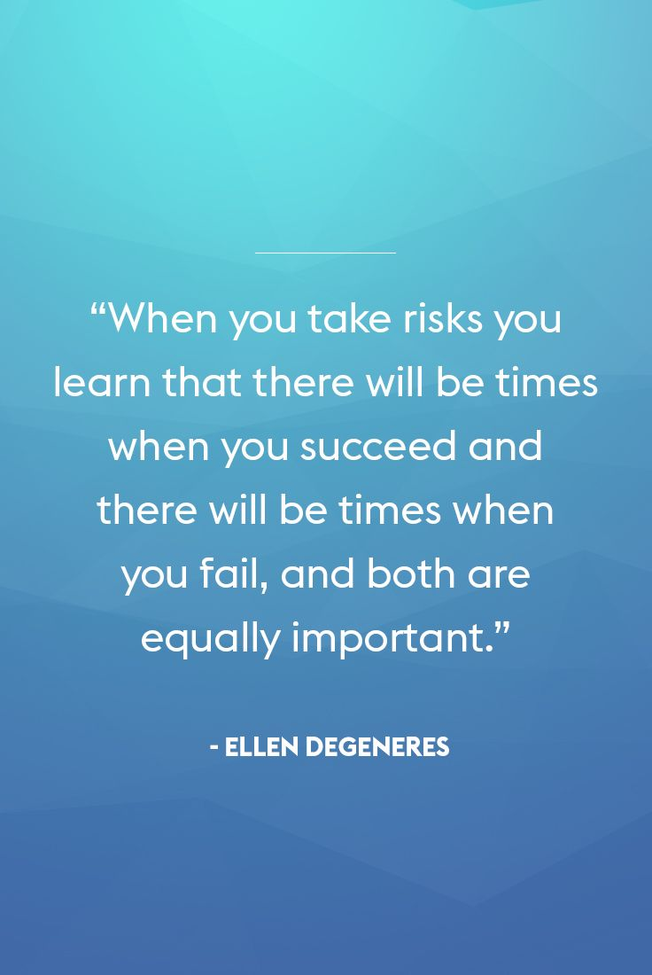 Ellen DeGeneres isn't just funny, she dishes out some great advice too! We love this inspirational quote from the comedian and talk show host.