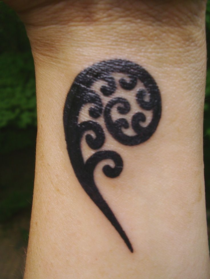 koru fern tattoo - Google Search