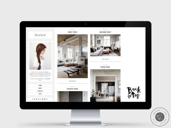 Responsive Blogger Template Hushed Grid Style Chic Minimalist