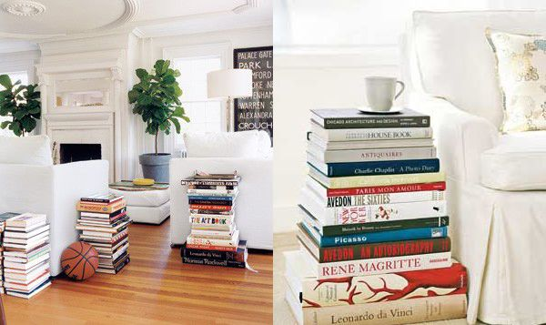 How to decorate your home using their own books