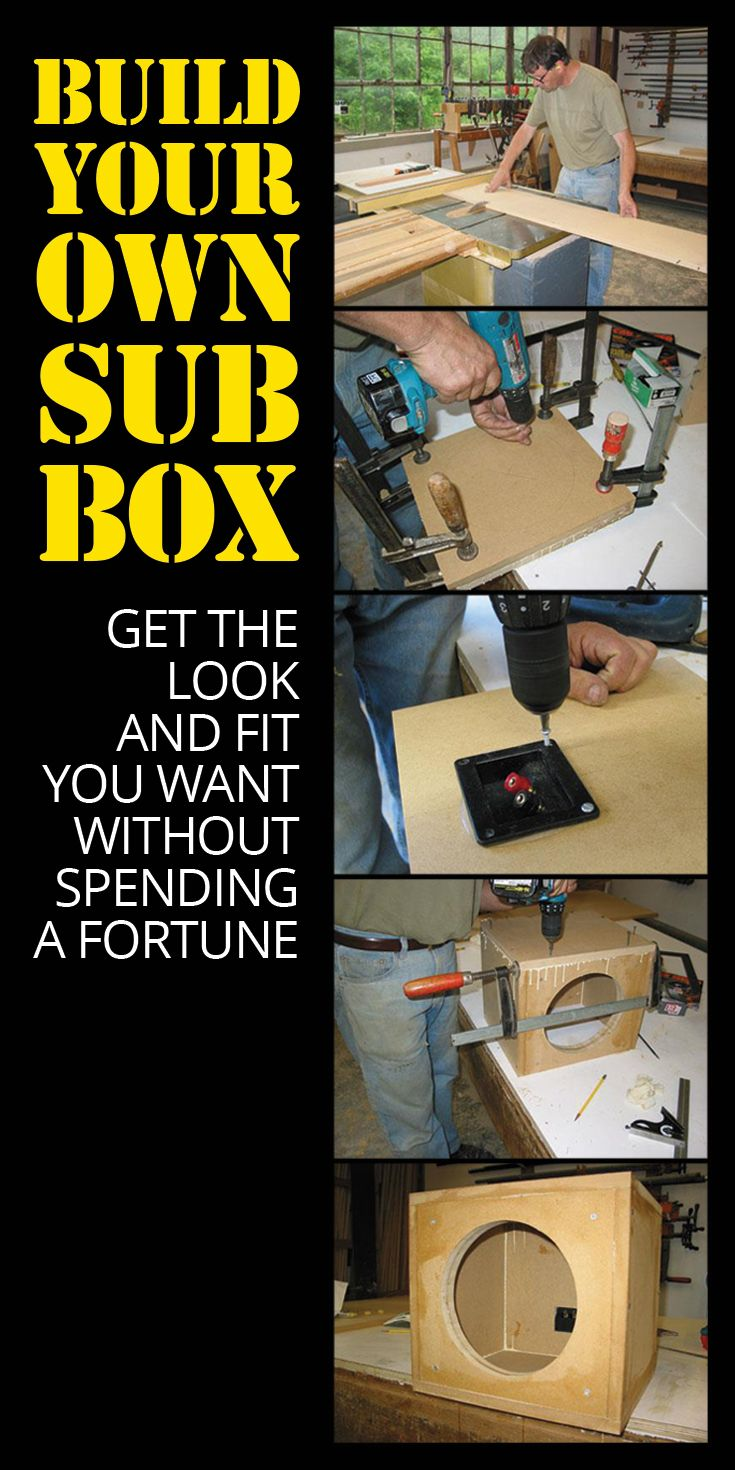 Building your own subwoofer box is a great way to get the look and fit you want, without spending a fortune. All you need is a few basic tools, hardware, and materials.