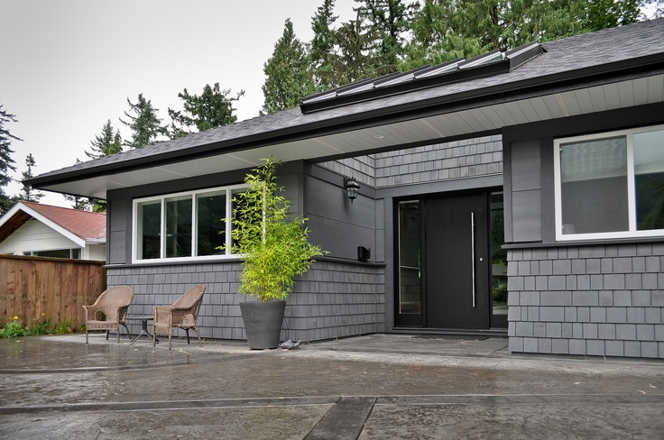 Front entry c/w skylights