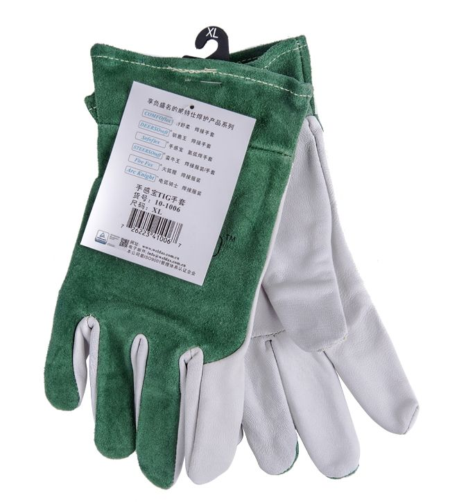 23.88$  Buy now - http://alirbx.shopchina.info/go.php?t=32635862156 - Oxygen arc electric welding work gloves short sheep leather safety glove TIG MIG carbon wear-resistant welder glove  #buymethat