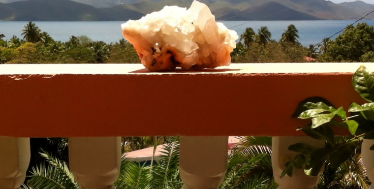 Quartz crystal with a view.