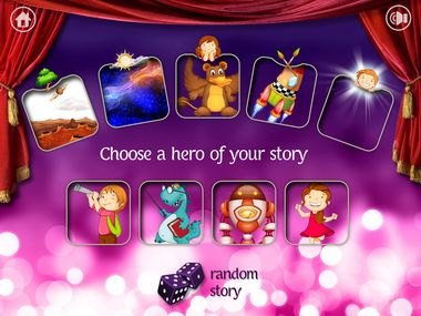 Kiddy Story Space Adventure: Adorable and playful app for kids to express imagination through storytelling. Choose a set of five elements and create a story that contains all five of them! You can easily record and play your stories. Perfect to play anytime and anywhere.  #kiddystory #storytelling