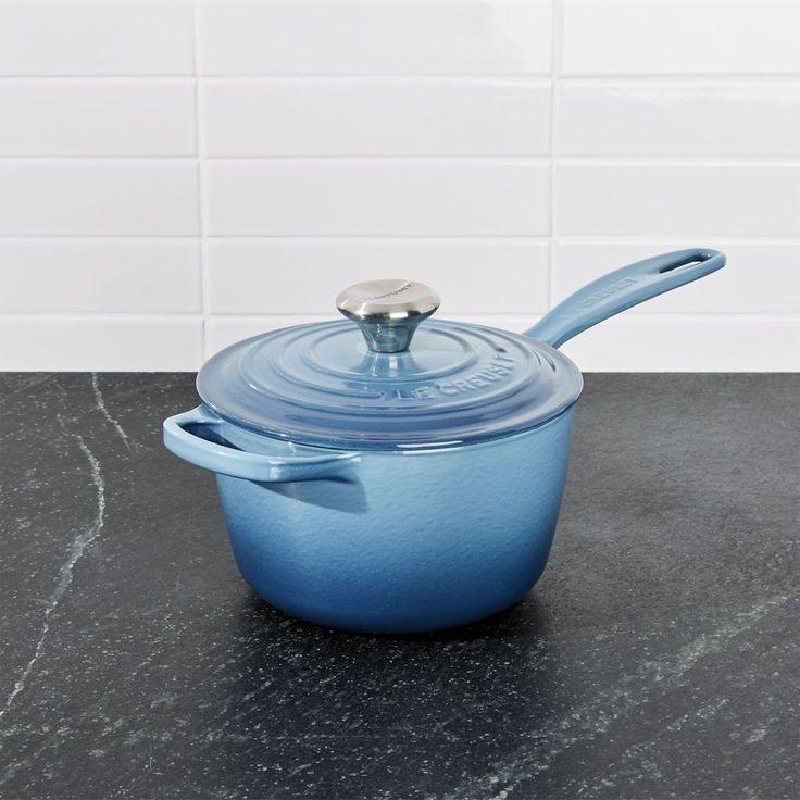 Le Creuset ® Signature 1.75-qt. Marine Blue Saucepan with Lid - Crate and Barrel