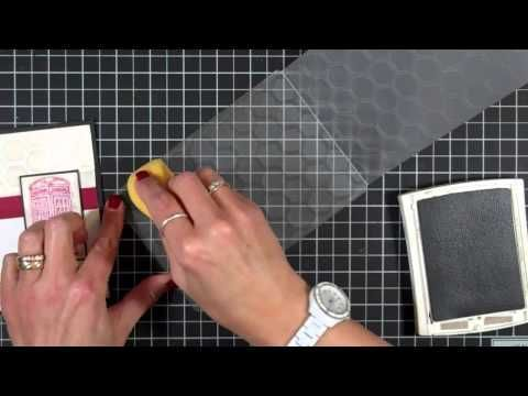 How to Use Embossing Folders and Ink - YouTube