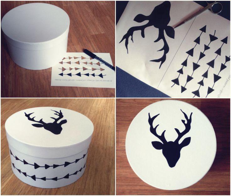 Round box DIY paint