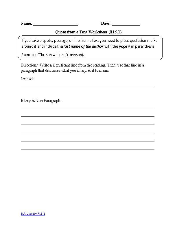 Worksheets 5th Grade Common Core Reading Worksheets 10 best images about 5th grade reading on pinterest texts verb common core informational text worksheets