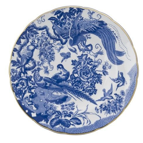 BLUE AVES PLATE 10INCH