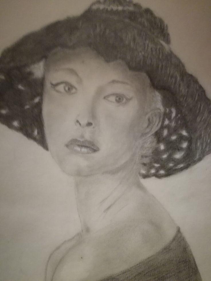 Dibujo a Lapiz, Cara mujer