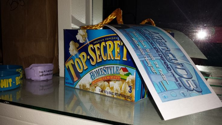"""Top Secret"" popcorn favor"
