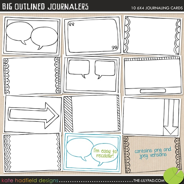 4x6 cards  #projectlifeBig Outline, Kate Hadfield, Journals Cards, Journals Ideas, Projects 365, Digital Projects, Projects Life, 4X6 Cards, Outline Journals
