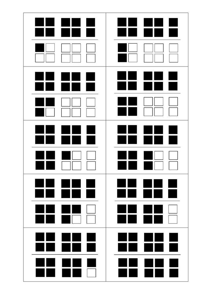 Getalbeelden tot 20, geschikt voor het eerste leerjaar.