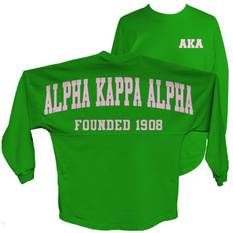 Alpha Kappa Alpha Spirit Jersey (Green) - Letters Greek Apparel - Black Greek Paraphernalia
