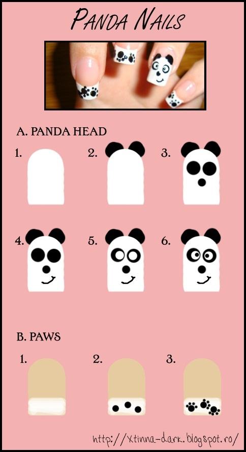Crissie's mind: Panda Nail Design