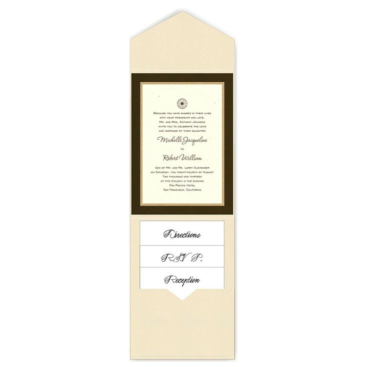 5 x 7 V-Flap Folio Pocket Wedding Invitations  - 3 Layers by MyGatsby.com: Pocket Wedding Invitations, Pockets Wedding Invitations
