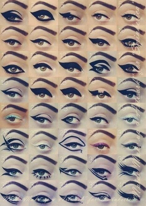 Different cat eyes, some ill never use. - Click image to find more makeup posts