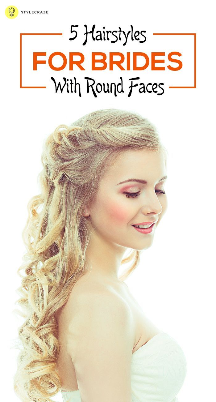 5 hairstyles for brides with round faces