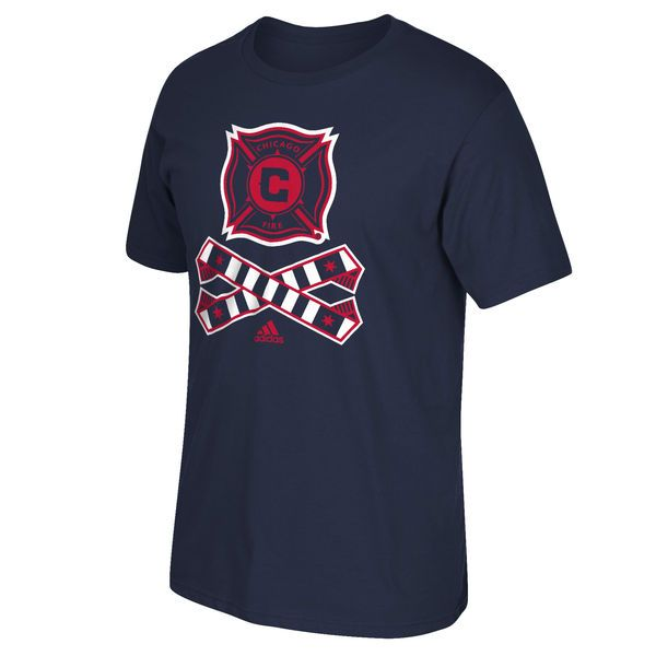 Chicago Fire SC adidas Crossed Up T-Shirt - Navy Blue - $12.97
