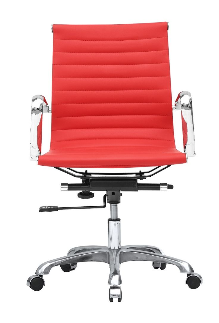 Red office chair modern - The Mod Office Ribbed Mid Back Chair Colors 213 00 Http