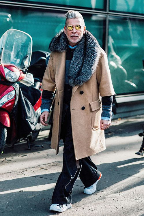 Fashion Week homme Street looks Milan automne hiver 2016 2017 51