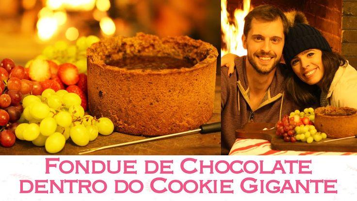 FONDUE de CHOCOLATE servido no COOKIE GIGANTE - Campos do Jordão   TPM, ...