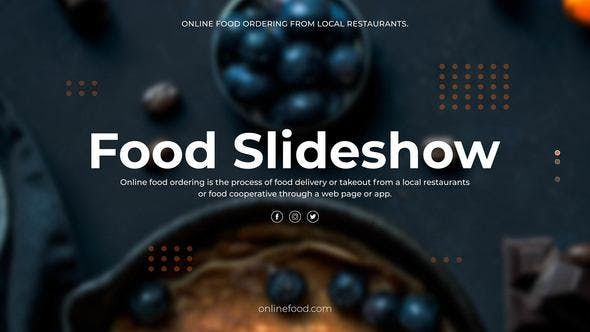 Food Slideshow | After Effects Project Files | Videohive