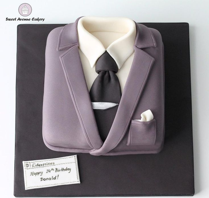 Looking for cake decorating project inspiration? Check out Suit Cake by member SweetAvenueCake.