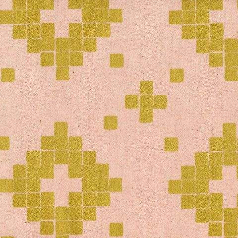 Tile CANVAS in Rose Gold Metallic by Bobbie Lou's Fabric Factory
