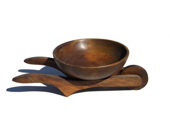 Mid-Century Walnut Wood Wheelbarrow Tabletop by TridentsTreasure