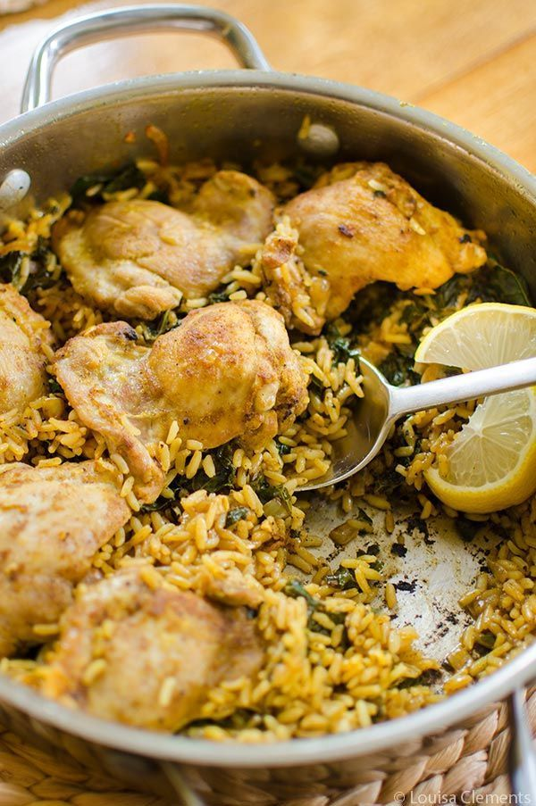 Get dinner on the table quickly with this one-pot recipe for curried chicken and rice with kale.