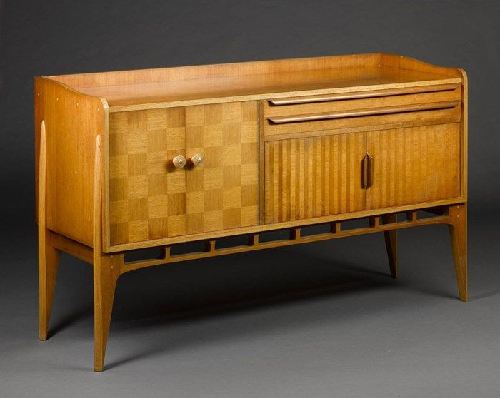 Sideboard from the Allegro dining suite, designed by Basil Spence for H. Morris & Co, Glasgow, 1949.