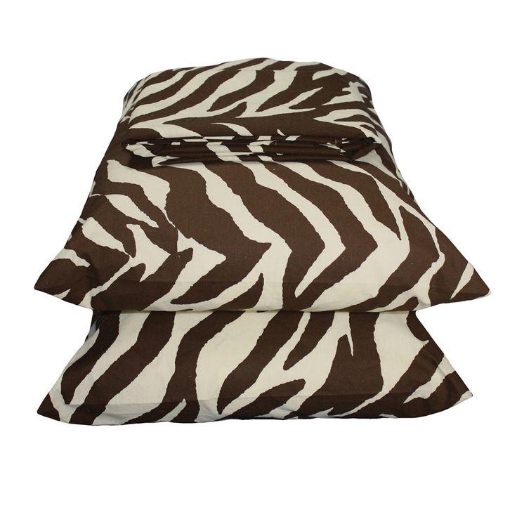 Kimlor Zebra Brown Waterbed Sheets Super | Bed Planet | Bedplanet.com