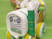 ♥★ Windel-Traktor in Gelb/Grün ★♥