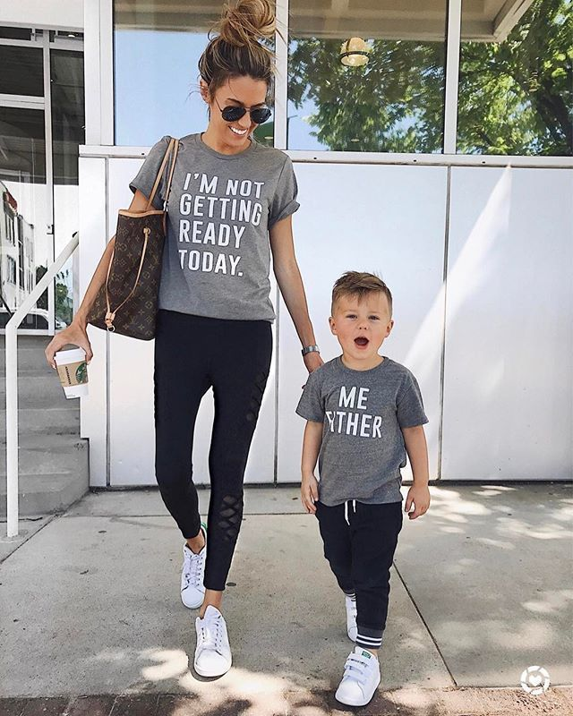 4470f6b466d9 Family Tops Clothing Mother Parent-Child Daughter LOVE T-shirt ...
